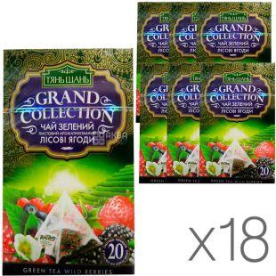 Тянь Шань, Wild berries, 20 пак., Чай Лесные ягоды, зеленый, упаковка 18 шт.
