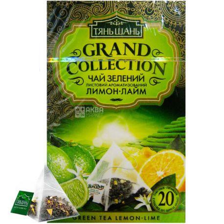 Тянь Шань, Lemon-Lime, 20 пак., Чай Лимон-Лайм, зелений