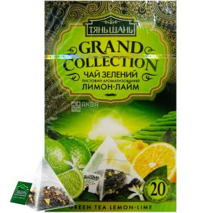 Тянь Шань, Lemon-Lime, 20 пак., Чай Лимон-Лайм, зеленый