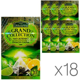 Тянь Шань, Lemon-Lime, 20 пак., Чай Лимон-Лайм, зеленый, упаковка 18 шт.
