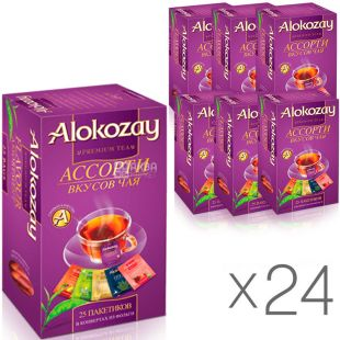 Alokozay, 25 bags, Alokozai fruit tea, Assorted, pack of 24