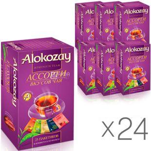 Alokozay, 25 пак., Чай фруктовый Алокозай, Ассорти, упаковка 24 шт.