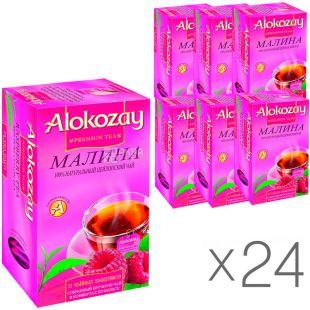 Alokozay, 25 пак, Чай черный Алокозай, с малиной, упаковка 24 шт.
