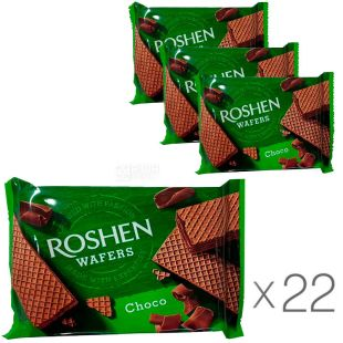 Roshen Wafers Choco, 22 pcs., 72 g each, Waffles Roshen Wafers with chocolate filling