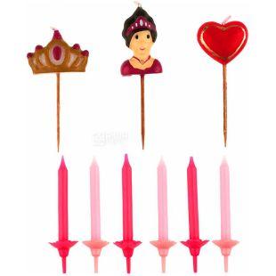 ScrapCooking, Party, СкрапКукинг Набор свечей для тортов, Принцесса, 15 шт.