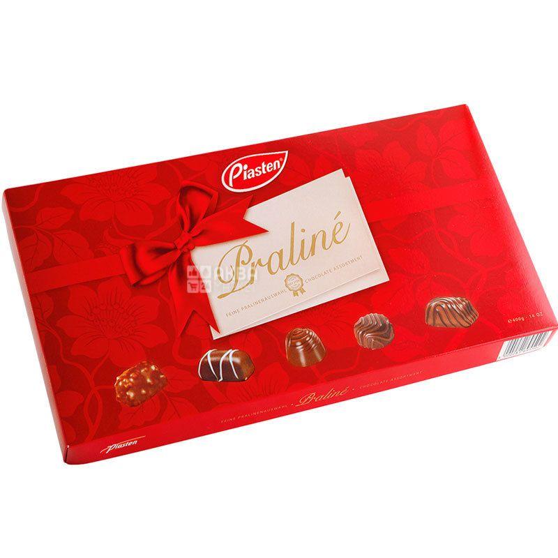 Piasten, Rer-Brown, 400 г, Пястен, Цукерки шоколадні, праліне