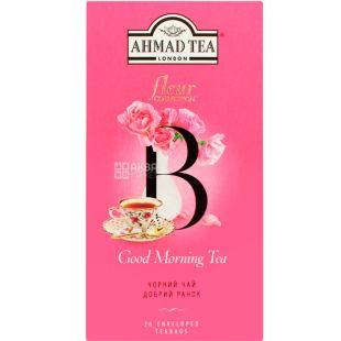 Ahmad Tea Fleur, Good Morning, 20 пак., Ахмад Тиа, Чай черный, Доброе утро