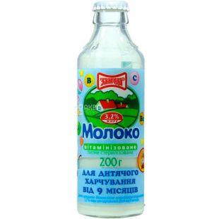 Злагода, 200 мл, Молоко детское витаминизированное, с 9 месяцев, 3,2%