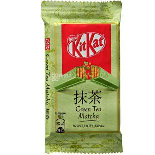 KitKat Green Tea Matcha, 41,5 г, КитКат, Батончик в белом шоколаде с зеленым чаем Матча