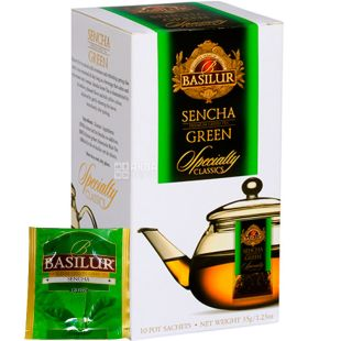 Basilur Sencha, 10 PAC., Green tea, Basilur, Sencha