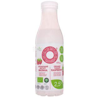 Organic Milk, 470 г, Органик Милк, Йогурт питьевой, Малина, органический, 2,5 %
