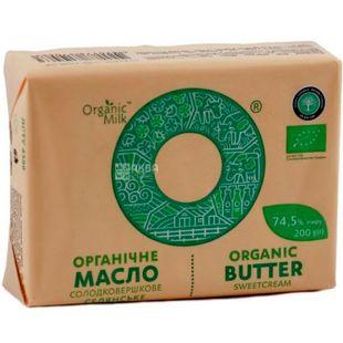 Organic Milk, 200 г, Органик Милк, Масло сладкосливочное, органическое, 74,5 %