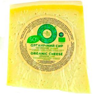 Organic Milk, 1 кг, Органик Милк, Сыр Украинский, твердый, органический, 50%