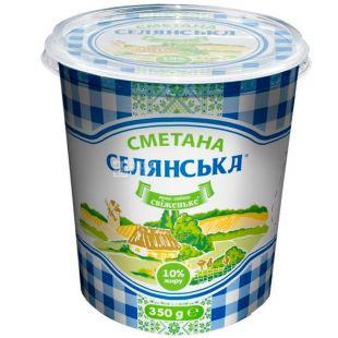 Селянська, 350 г, Сметана, 10%,