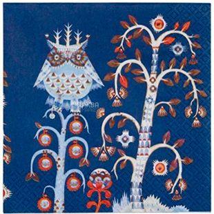 Littala, Taika, 20 шт., Литтала, Салфетка бумажная, с рисунком, 33х33 см