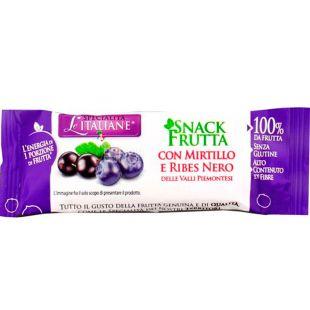 Le Specialita Italiane, 30 г, Ле Спеціаліта Італьяне, Батончик фруктовий, Чорниця та чорна смородина П'ємонт