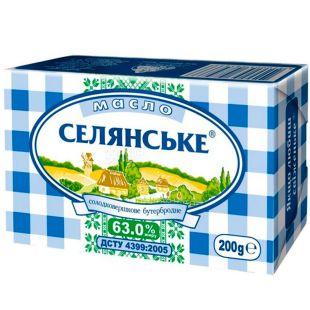 Селянське, 200 г, Масло сладкосливочное, 63%