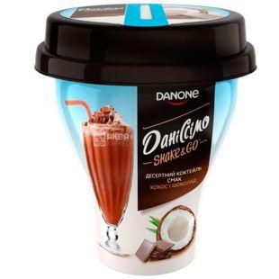 Danone, Даниссимо, 260 г, Данон, Коктейль десертный, Кокос и шоколад, 5,2%