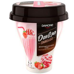 Danone, Даниссимо, 260 г, Данон, Коктейль десертный, Клубничное мороженое, 5,2%