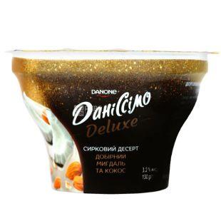 Danone, Даніссімо, 130 г, Данон, Десерт сирний, Мигдаль і кокос, 3%