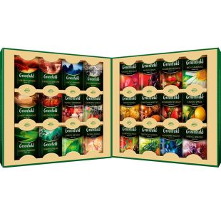Greenfield, Premium Collection, 96 пак., Чай Гринфилд, Ассорти, подарочный набор
