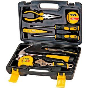 Master Tool, 9 предметов, Набор инструментов, универсальный, в кейсе