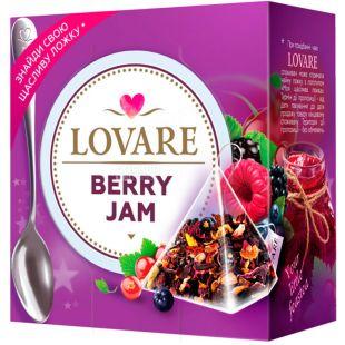 Lovare, Berry Jam, 15 пак. х 2 г, Чай Ловаре, Ягодный джем, фруктово-цветочный + ложка