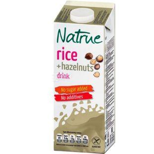 Natrue, Rice+Hazelnuts, 1 л, Натру, Напиток растительный, Рис-лесные орехи, без сахара