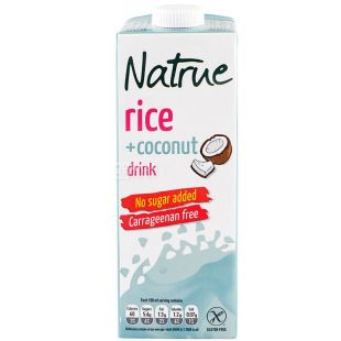 Natrue, Rice+Coconut, 1 л, Натру, Напиток растительный, Рис и кокос, без сахара