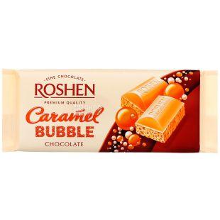 Roshen Caramel bubble, 80 g, Roshen Chocolate white porous caramel