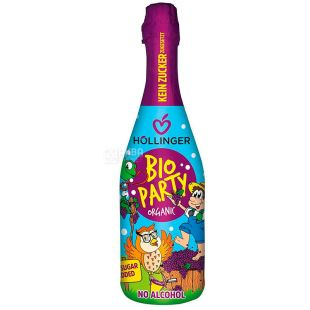 Hollinger, Bio Party, 0.75 L, Champagne for children, non-alcoholic