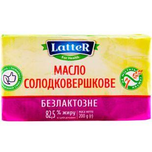 LatteR, 200 г, Леттер, Масло сладкосливочное, безлактозное, 82,5%