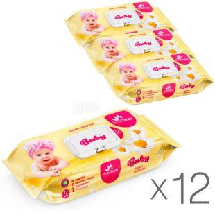 EcoRelax Сhamomile Extract, 72 шт., ЭкоРелакс, Салфетки влажные с экстрактом ромашки, детские, Упаковка 12 шт.