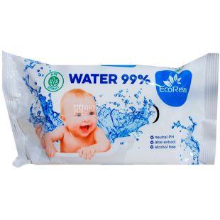 ECORelax Water 99% Baby, 72 шт., Серветки вологі Екорелакс, Дитячі, для догляду за шкірою