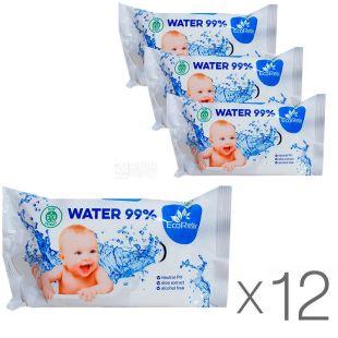 EcoRelax Water 99 %, 72 шт., ЭкоРелакс Салфетки влажные детские, Упаковка 12 шт.