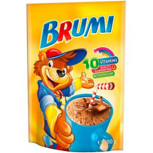 Brumi, Cocoa, 300 g, Brumi, Beverage fortified, with calcium, instant,