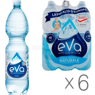 Acqua Eva, 1.5 L, Pack of 6 pcs., Aqua Eva, Mountain water, still, PET
