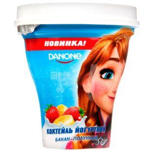 Danone Disney Frozen, 250 г, Данон, Коктейль йогуртний, Банан-Полуниця, 1,5%