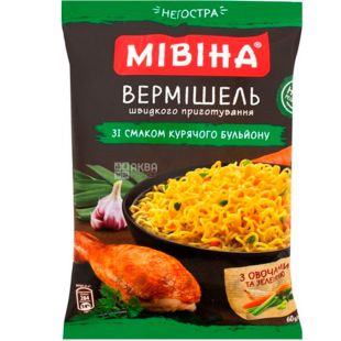 Mivina, Vermicelli with taste of chicken broth, 60 g