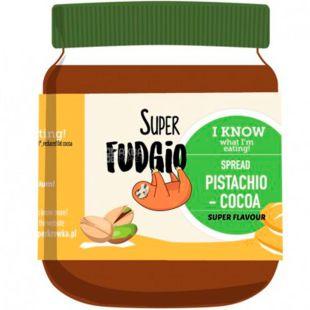 Super Fudgio, 190 g, Super Fujio Chocolate Paste with Pistachios, Organic, Vegan