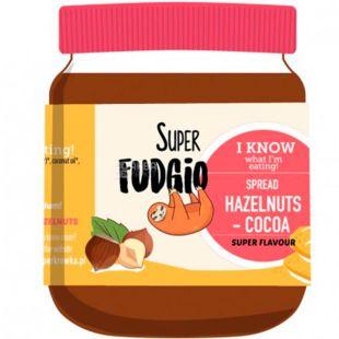 Super Fudgio, 190 g, Super Fujio Hazelnut Chocolate Paste, Organic, Vegan