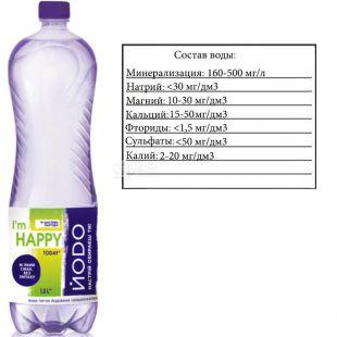 Йодо, 1,5 л, Вода мінеральна газована, ПЕТ