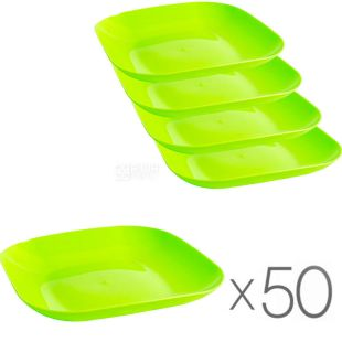 Promtus, plastic plate Ø18 cm, assorted, packing 50 pcs.