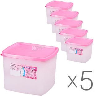 Al-Plastic, 0.9 L, Pack of 5, Plastic Container Artic Box