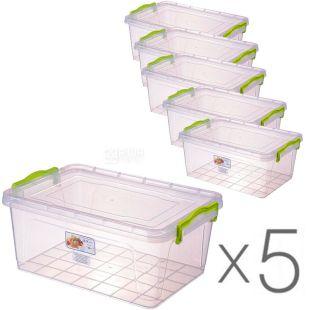 Al-Plastic, 9,5 л, Упаковка 5 шт., Ал-Пластик, Контейнер пластиковий Lux №7