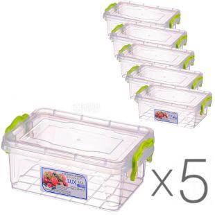 Al-Plastic, 1,2 л, Упаковка 5 шт., Ал-Пластик, Контейнер пластиковий Lux №3