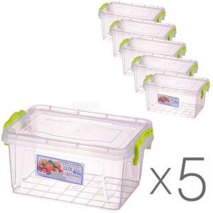Al-Plastic, 1,5 л, Упаковка 5 шт., Ал-Пластик, Контейнер пластиковий Lux №4