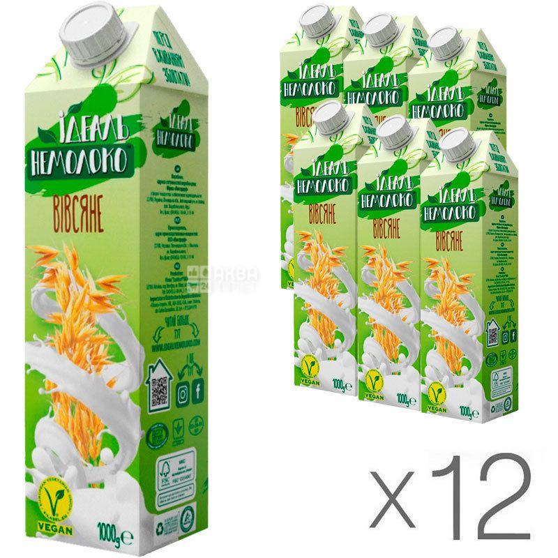 Идеаль Немолоко, Овсяное, 2,5%, Упаковка 12 шт. по 1л