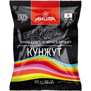 Akura, Кунжут білий і чорний, 50 г