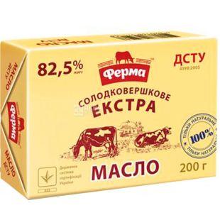Ферма, Экстра, 200 г, Масло сливочное, 82,5%